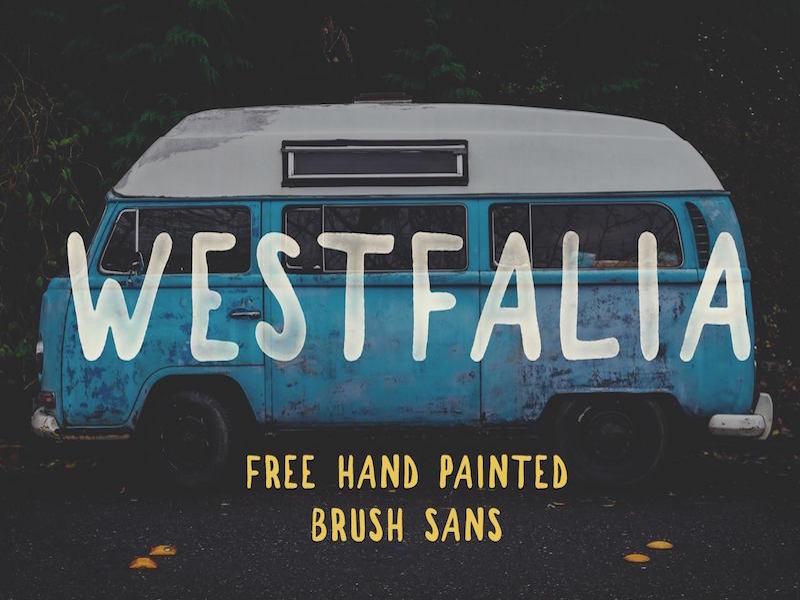 Westfalia – Free Hand Painted Brush Sans Font