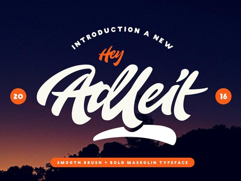 Adleit Script Typeface