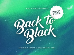 Free Back to Black Font