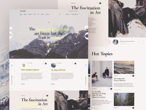 Cyclone Free Magazine PSD Template