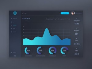 Free Dark Admin Template Sketch