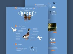 Ducky Social Website Template