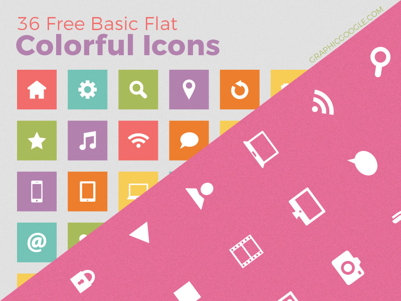 Free Colorful Basic Icons