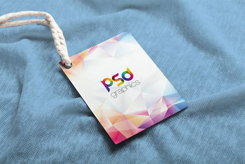Free Photorealistic Label Tag Mockup PSD