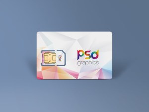 Free SIM Card Mockup PSD