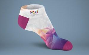 Free Sock Mockup PSD