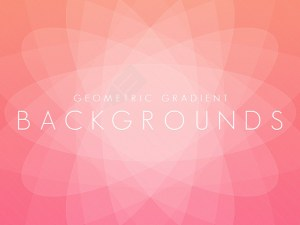 Free Geometric Gradient Background Set