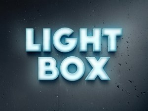 Free Lightbox Text Effect