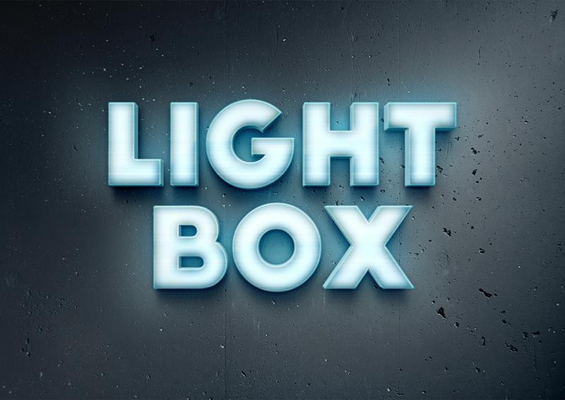 Free Lightbox Text Effect PSD