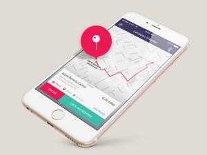 Free Location Tracker App UI PSD
