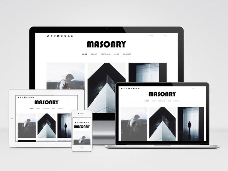 Free Masonry Portfolio Wordpress Theme