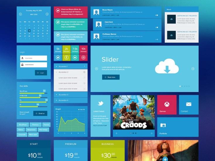 Free Metro Style UI Kit
