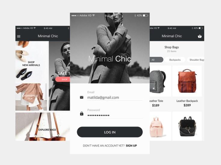 Free Mobile Ecommerce UI Kit
