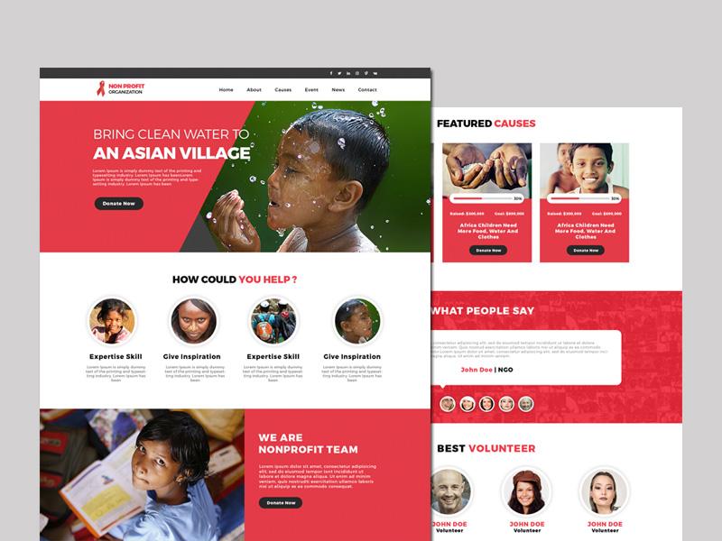 Free Non Profit Website Template