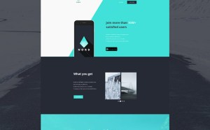 Nord : App Landing Page PSD Template