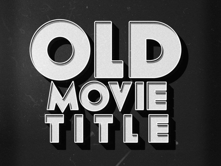 Free Old Movie Text Effect PSD