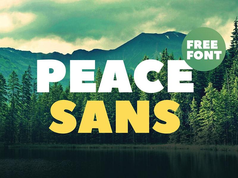 Peace Sans : Free Sans Serif Font