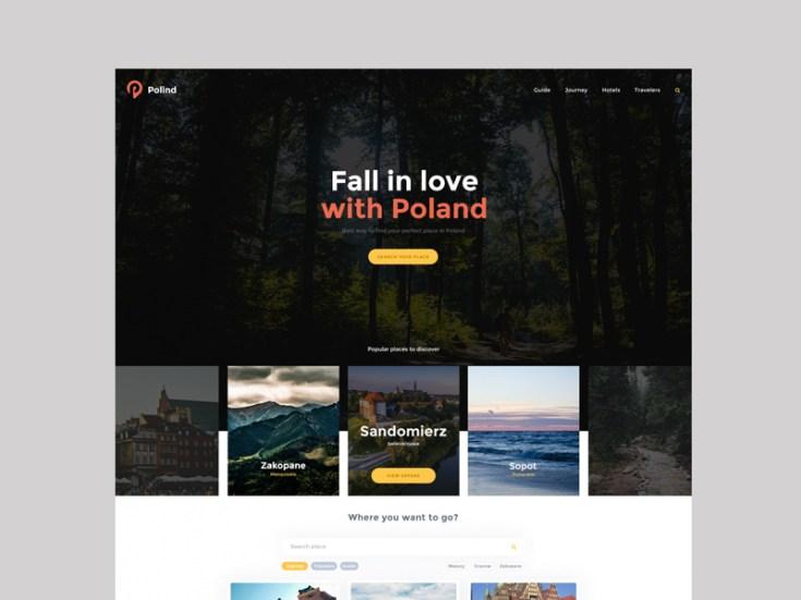 Polind : Free Tourism PSD Web Template