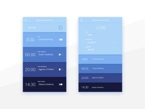 Free Reminder App UI Design PSD