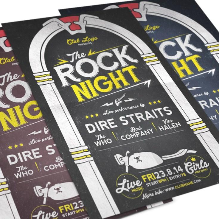 Free Rock Night Concert Flyer Template