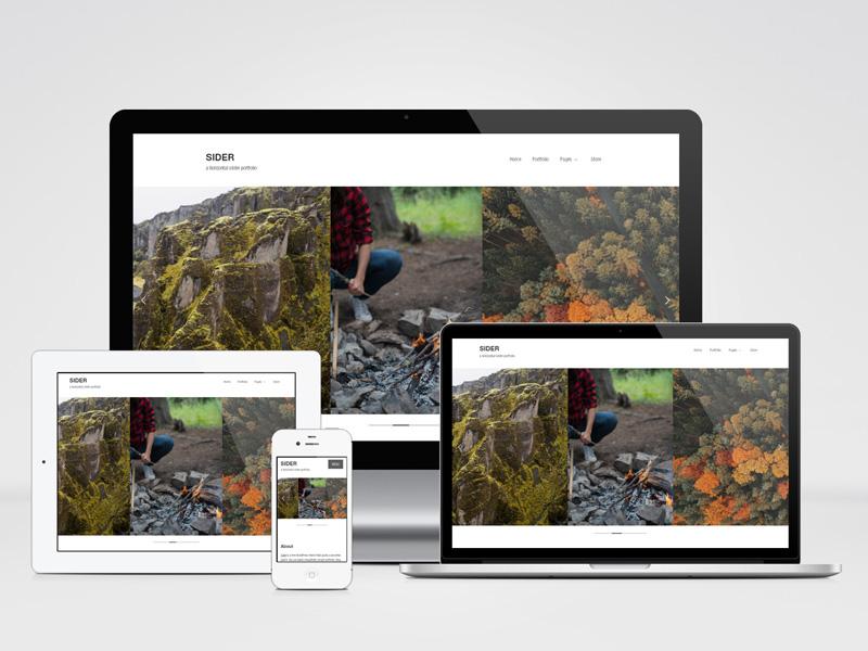 Sider: Horizontally-scrolling WordPress Theme