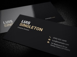 Free Simple Clean Business Card Template