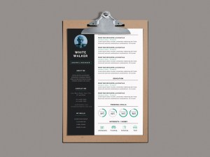 Free Simple and Clean Resume CV Template Free PSD