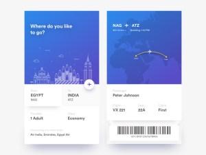Free Ticket App UI Design
