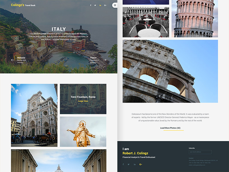 Travel Book PSD Website Template