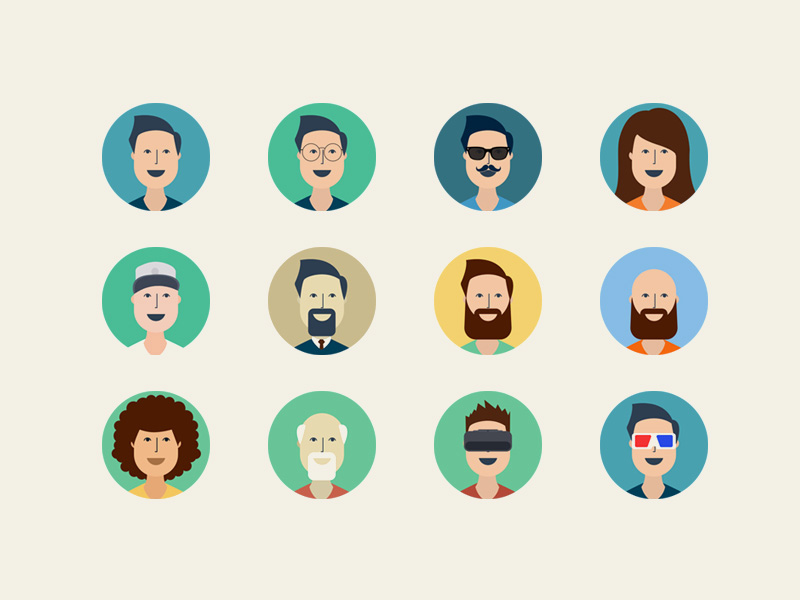 Free User Profile Icons PSD