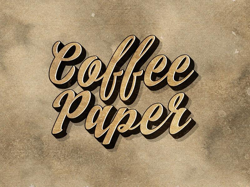 Vintage Coffee Paper Textures