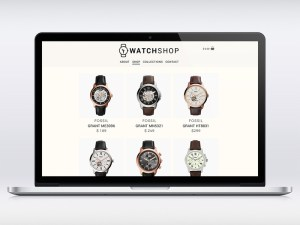 Free WatchShop Ecommerce PSD Template