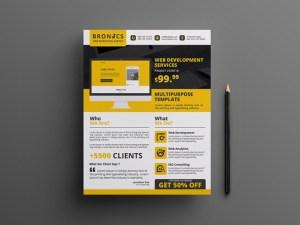 Free Web Development Flyer Template