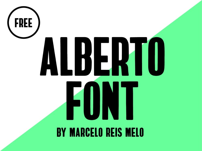 Alberto : Free Bold Condensed Typeface