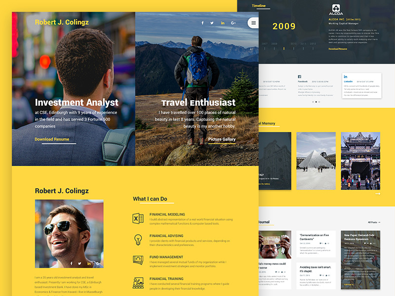 Colingz – Free Personal PSD Website Template