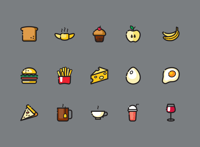 120 Free Food Related Icons