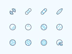 Free Sport Line Icon Set