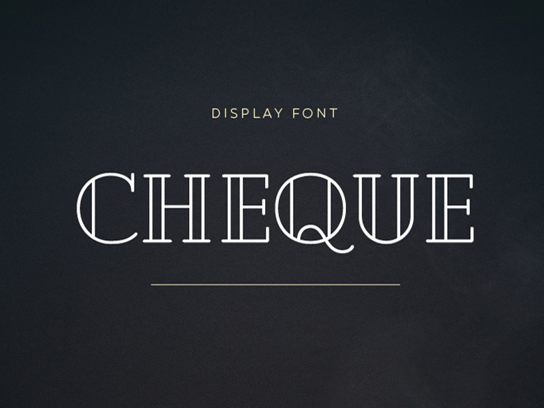 Cheque : Free Geometric Display Typeface
