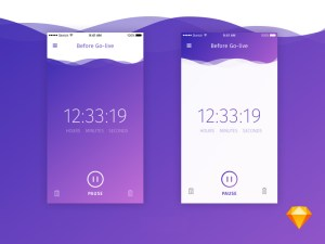 Countdown App UI Sketch