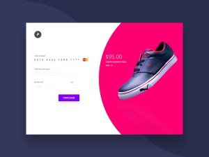 Credit Card Checkout UI PSD