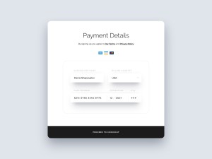 Free Credit Card Form UI PSD
