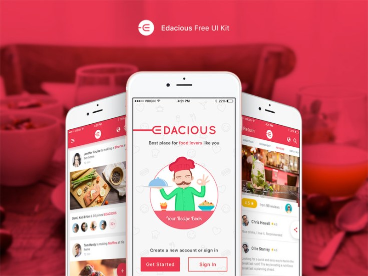 Edacious Free Mobile UI Kit