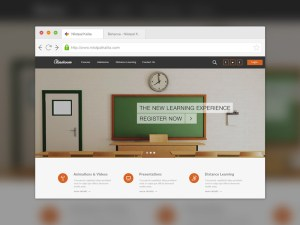 Free Education Learning PSD Template