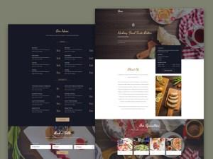Fesco Free PSD Restaurant Web Template