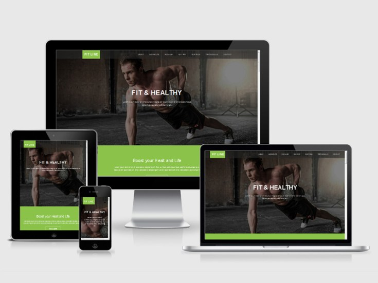 Fit Line : Free Gym Bootstrap Template