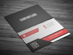 free Flat Business Card template