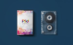 Free Audio Cassette Cover Mockup PSD