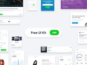 Free Clean UI Kit PSD