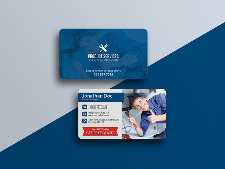 Free Construction Business Card Template Free Download - Construction business card templates download free