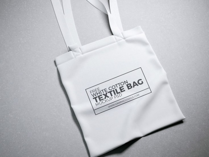 Free Cotton Tote Bag Mockup PSD